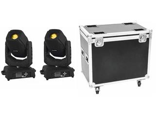 Set 2x LED TMH-X20 Moving-Head Spot + Case
