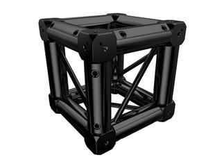 Global Truss F14 Boxcorner Black mit 8 Verbindern
