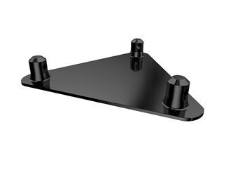 Global Truss F33 Bodenplatte Stage Black, 3-Punkt inkl. Verbinder