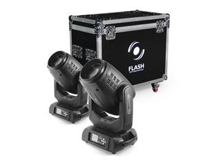 Moving Head Set - 2x FLASH 15R Moving Head Hybrid 3IN1 + Case