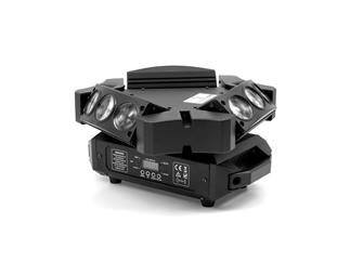 FLASH LED Moving Head 9x12W Spyder mini, 3-fach TiltBar auf MovingHead-Basement