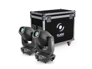 2x FLASH LED MOVING HEAD 200W 3w1 +CASE