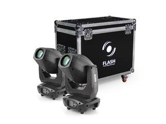 2x FLASH LED MOVING HEAD 200W 3w1 +CASE