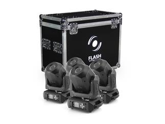 4x FLASH LED Moving Head 90W Diamond +CASE