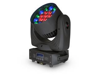 FLASH 4x LED MOVING HEAD 19x15W RGBW ZOOM MKII + Case