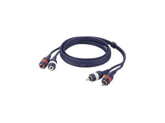 2 RCA Male connector to 2 RCA Female connector 3m