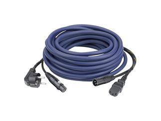 AUDIO Power/Signal Kabel Schutzkontaktstecker auf Kaltgerätebuchse & XLR/XLR, 20m