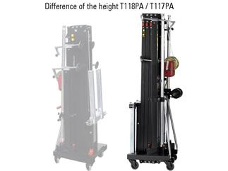 Fantek Lift T-117PA, schwarz, Höhe:5,8m,Gabel-Lift für Line Array