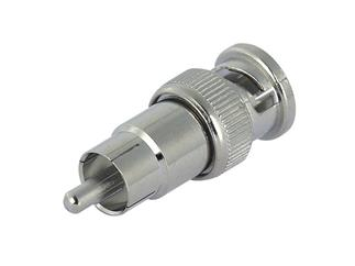 Adapter BNC Male auf Cinch Male 75 Ohm