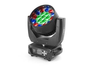 4x Flash Moving Head Wash 19x15W RGBW 4in1 Zoom, 3 Sektionen - 4er Set im Case