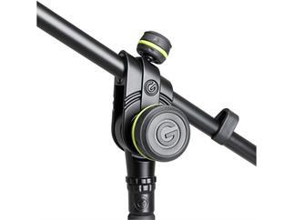 Gravity MS 4221 B - Mikrofonständer kurz mit Dreibein-Klappfuß und 2-Punkt Galgen