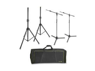 Gravity SSMS SET 1 - Set mit 2 Lautsprecher- und 2 Mikrofonstativen in Transporttasche