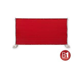 Gaze Typ 800 Bauzaunblende 1,76x3,41m geöst rot