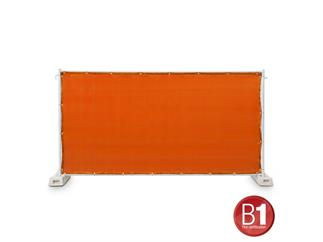 Gaze Typ 800 Bauzaunblende 1,76x3,41m geöst orange