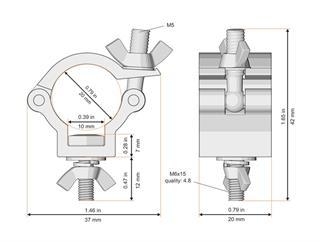 Global Truss F14 Trussaufnehmer klein für 20mm Rohr