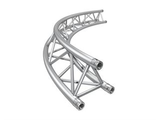 Global Truss F33PL Kreisstück für Kreis 4,0m Ø / 1 Stück 90 °, 3-Punkt Traverse inkl. Verbinder