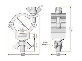 Global Truss Half Coupler für 32-35mm Rohr, schwarz