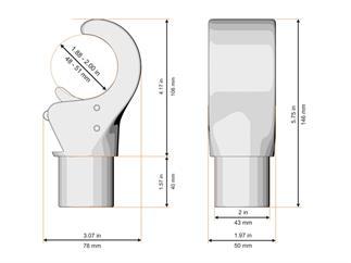 Global Truss Klauenaufnehmer für 48 bis 51mm Rohr