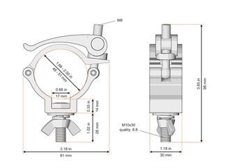 Global Truss Trussaufnehmer klein 48-51mm, mit Schnellverschluss