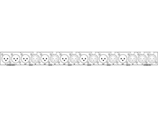IMG STAGE LINE Line/Mic Splitter LMS-808
