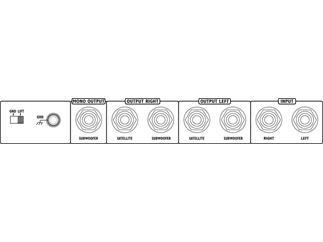 Monacor Elektronische Frequenzweiche MCX-200/SW