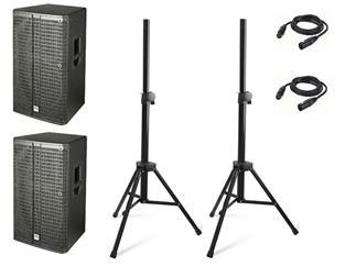 HK Audio LINEAR 5 L5 115 FA Set, mit Kabel und Stativen,
