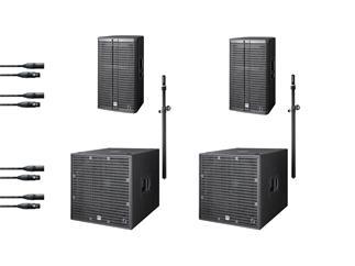 HK Audio Linear 7 Demo Bundle, 2x Linear7 Sub 118 A + 2x Top Linear7 112 FA