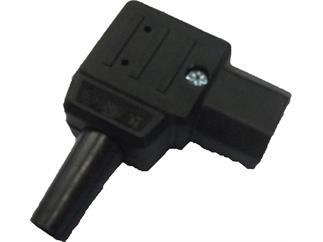 Bachmann IEC-Winkelstecker schwarz, rechts montierbar