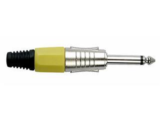DAP Klinkenstecker 6.3mm Mono Nickel/gelb