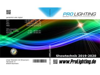 Katalog Pro Lighting Showtechnik 2019/2020