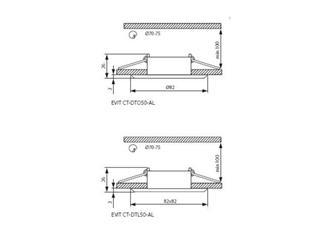 KANLUX EVIT CT-DTO50-AL - Einbauleuchte schwenkbar - Aluminium gebürstet