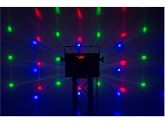 JB Systems - Party Derby 4 x 3W RGBW LEDs + 16 LED Strobes
