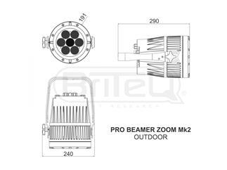 Briteq Pro Beamer Zoom MKII  - Rental IP65 7x12W RGBW