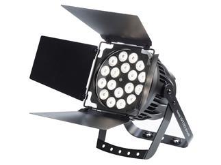 LITECRAFT OutLED WT20.swa 18x SWA LEDs, 2.300-5.700 K, 25°, DMX, Alu, schwarz, IP 65, inkl. Torblende