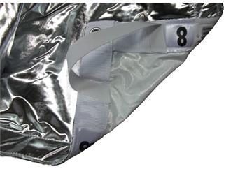 08' x 08' Lame Silver White, mit Tasche in Größe S