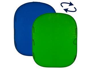 Lastolite LL LC5687 Falthintergrund Doppelseitig Blau/Grün 150x180cm