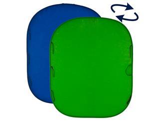Lastolite LL LC5987 Falthintergrund Doppelseitig Blau/Grün 180x210cm