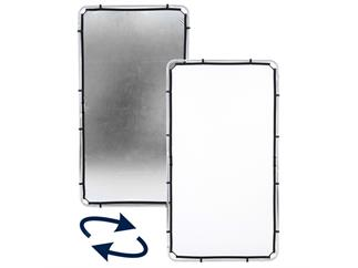 Lastolite LL LR81231R Skylite Rapid Fabric Medium 1.1 x 2m Silver/White, nur Bespannung