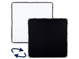 Lastolite LL LR82221R Skylite Rapid Fabric Large 2 x 2m Black/White, nur Bespannung