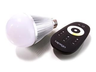 Kapego LM LED E27 6W WWCW RF silber