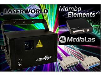 Laserworld CS-1000RGB MKII  inkl. Mamba Elements V3 + 20m ILDA-Kabel