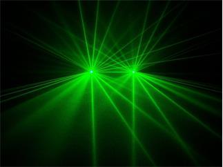 Laserworld EL-D100G, DMX, Auto, Sound, Doppel-Laser