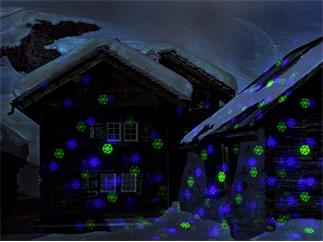 Laserworld GS-70GB Xmas RC Gartenlaser grün-blau IP67 inkl. Fernbedienung