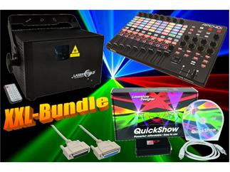 Laserworld PRO-1600 RGB + Pangolin Quickshow Software + Akai APC 40 MK2 + Kabel