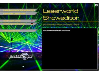 Laserworld Showeditor 2015 SET inkl. ShowNET Interface und über 100 Shows