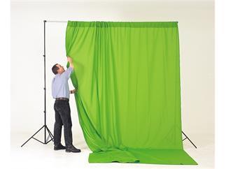 Lastolite Chromakey Textilhintergrund Grün 300x350cm mit Schlaufe