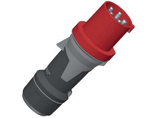 CEE Mennekes, 5pol, 63A/400V, Stecker, Farbe rot, IP67