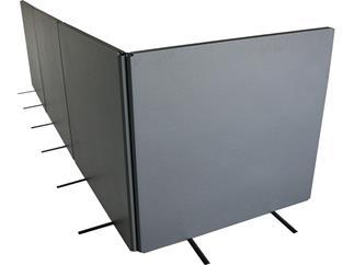 5x Regieabkaschungselement + Flightcase + Rollensatz