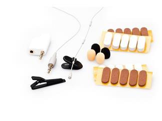 MicW i825 Kit - Mini-Lavalier-Mikrofon (Kugel) für mobile Geräte mit umfangreichem Zubehör
