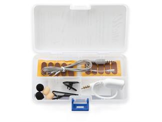 MicW i825 Kit - Mini-Lavalier-Mikrofon (Niere) für mobile Geräte mit umfangreichem Zubehör
